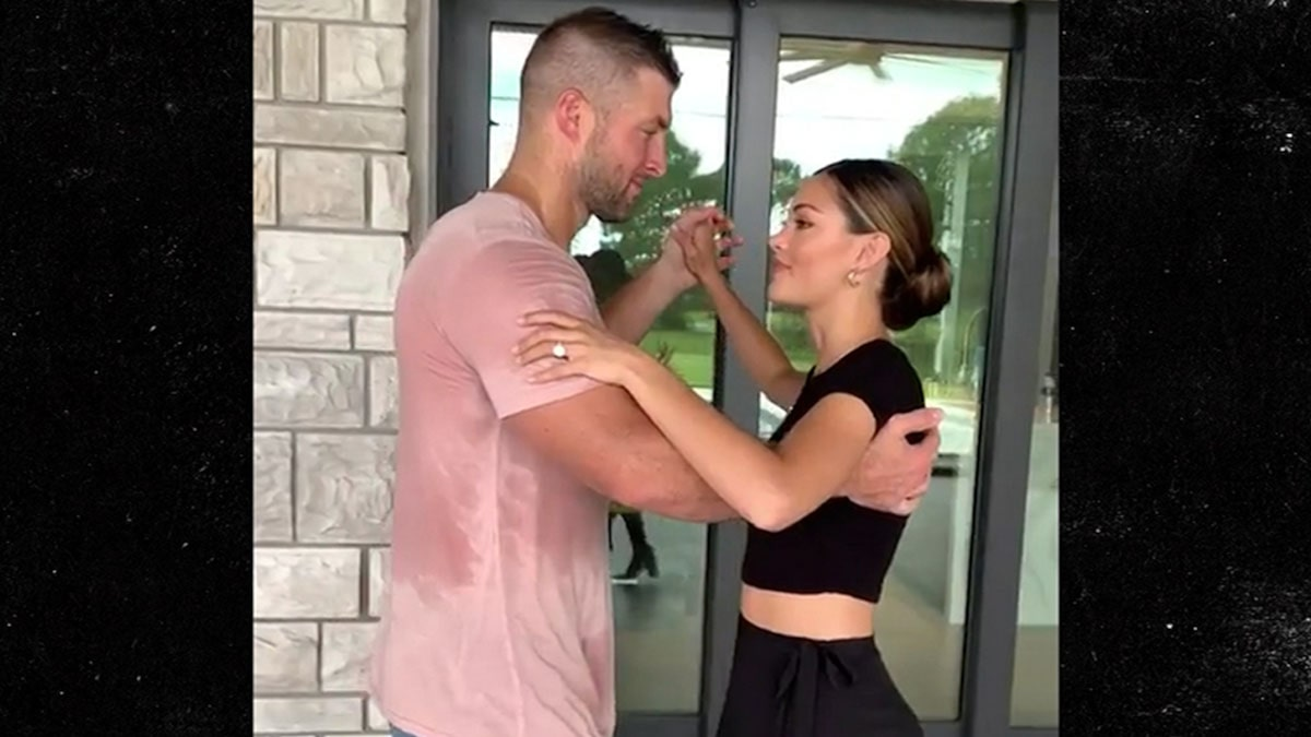 Tim Tebow Sweats Face Off At Wedding Dance Practice W/ Ms. Universe Fiancee