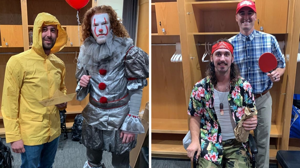 Dodgers' Dustin May Rocks Surreal Pennywise Fit At Team's Epic Costume Party
