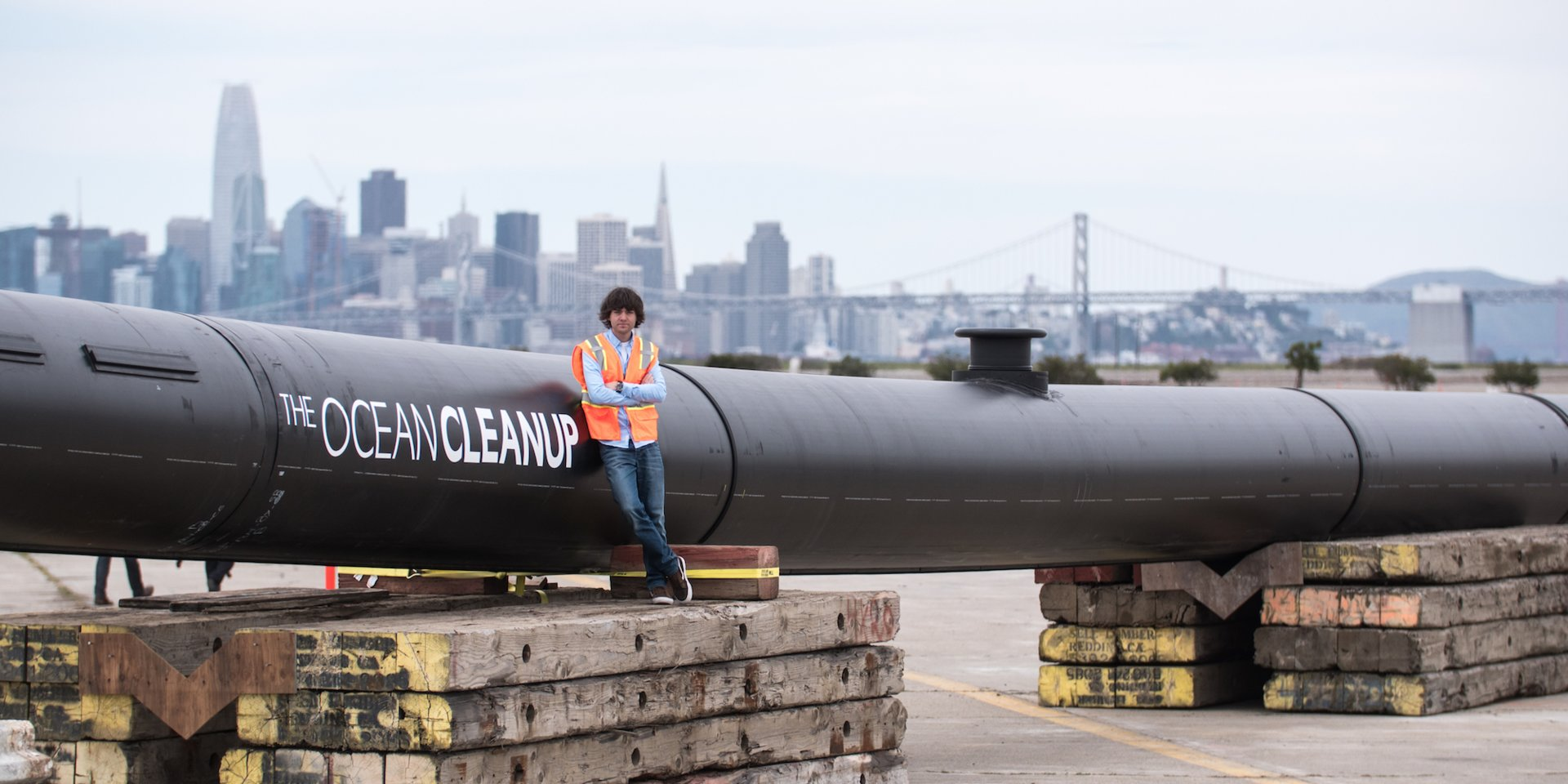 The massive plastic-cleaning device invented by a 25-year-old is finally catching some trash in the Great Pacific Garbage Patch. Take a look at its journey.