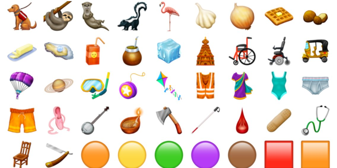 Here's every single new emoji we're getting this year