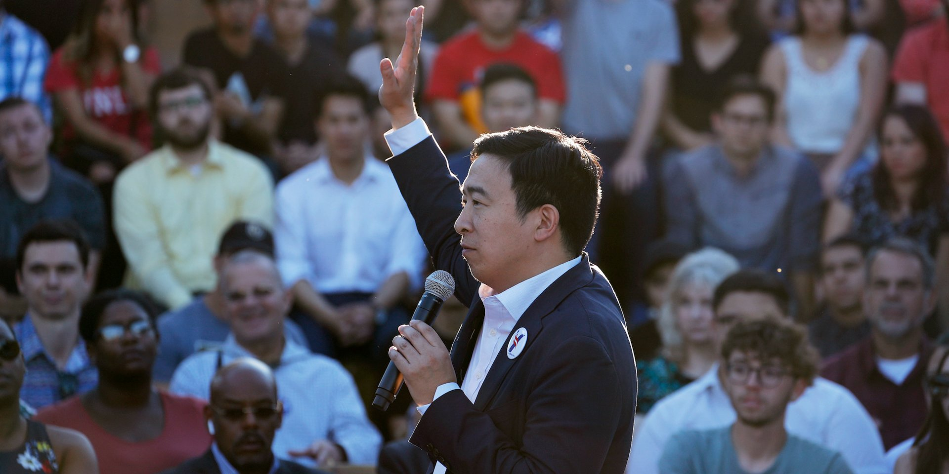 Democratic candidate Andrew Yang just promised to give 10 American families $12,000 over a year of 'universal basic income.' Here's how the radical policy plan would actually work.