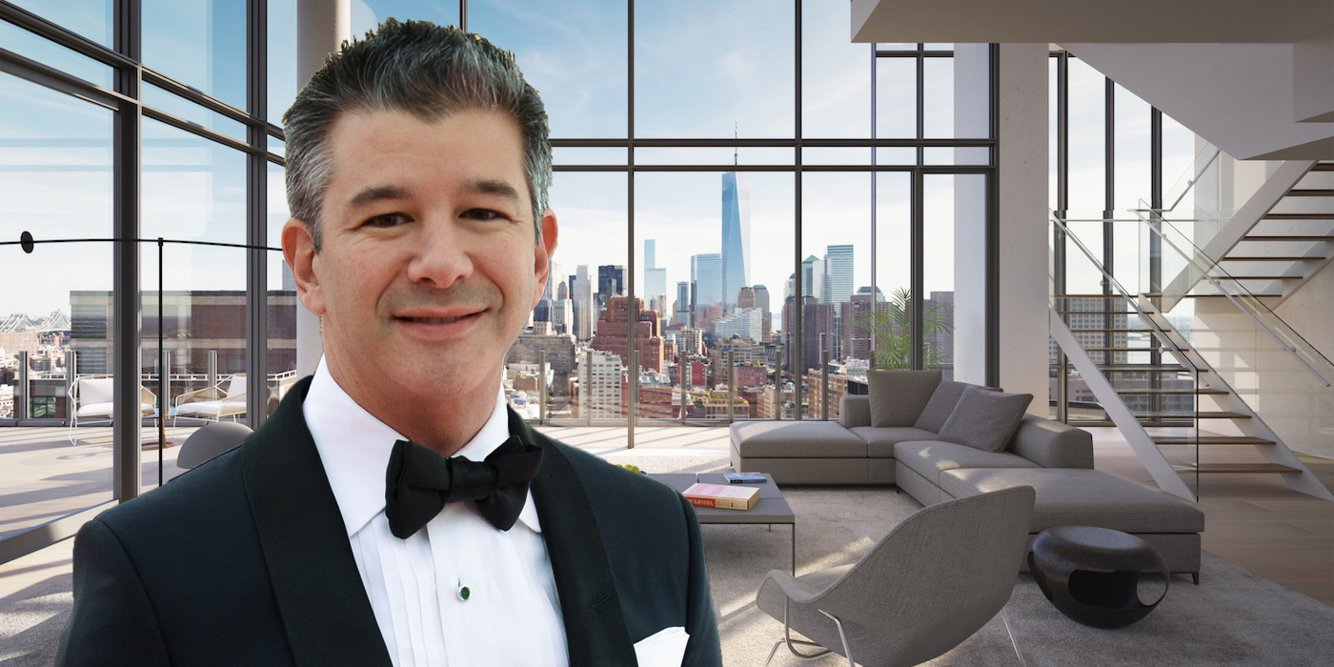 See inside the $36 million NYC penthouse Uber founder Travis Kalanick just purchased, complete with a private rooftop pool and automated parking garage (UBER)