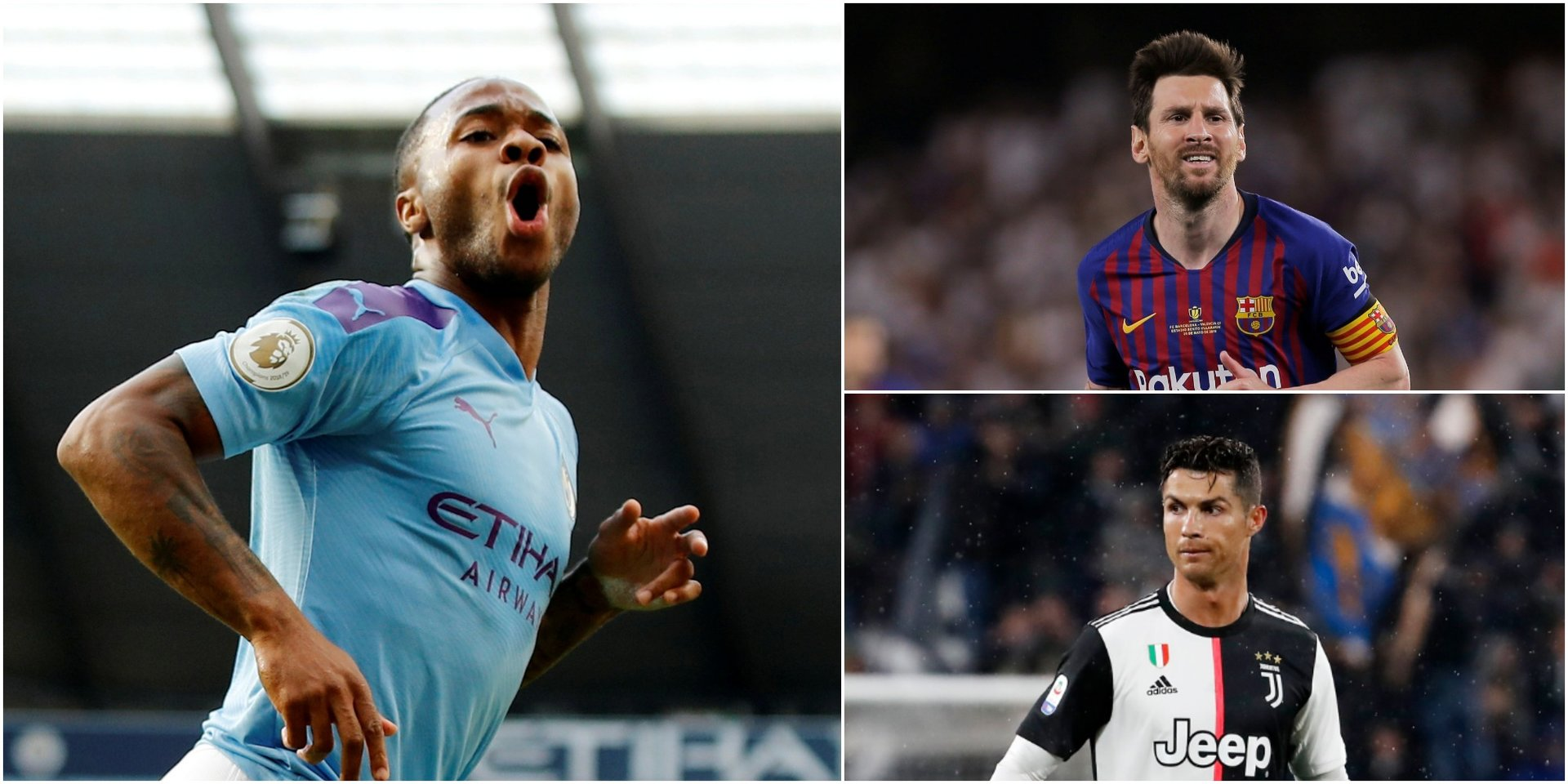 A former Manchester City and England star says Raheem Sterling is just as good as Messi and Ronaldo