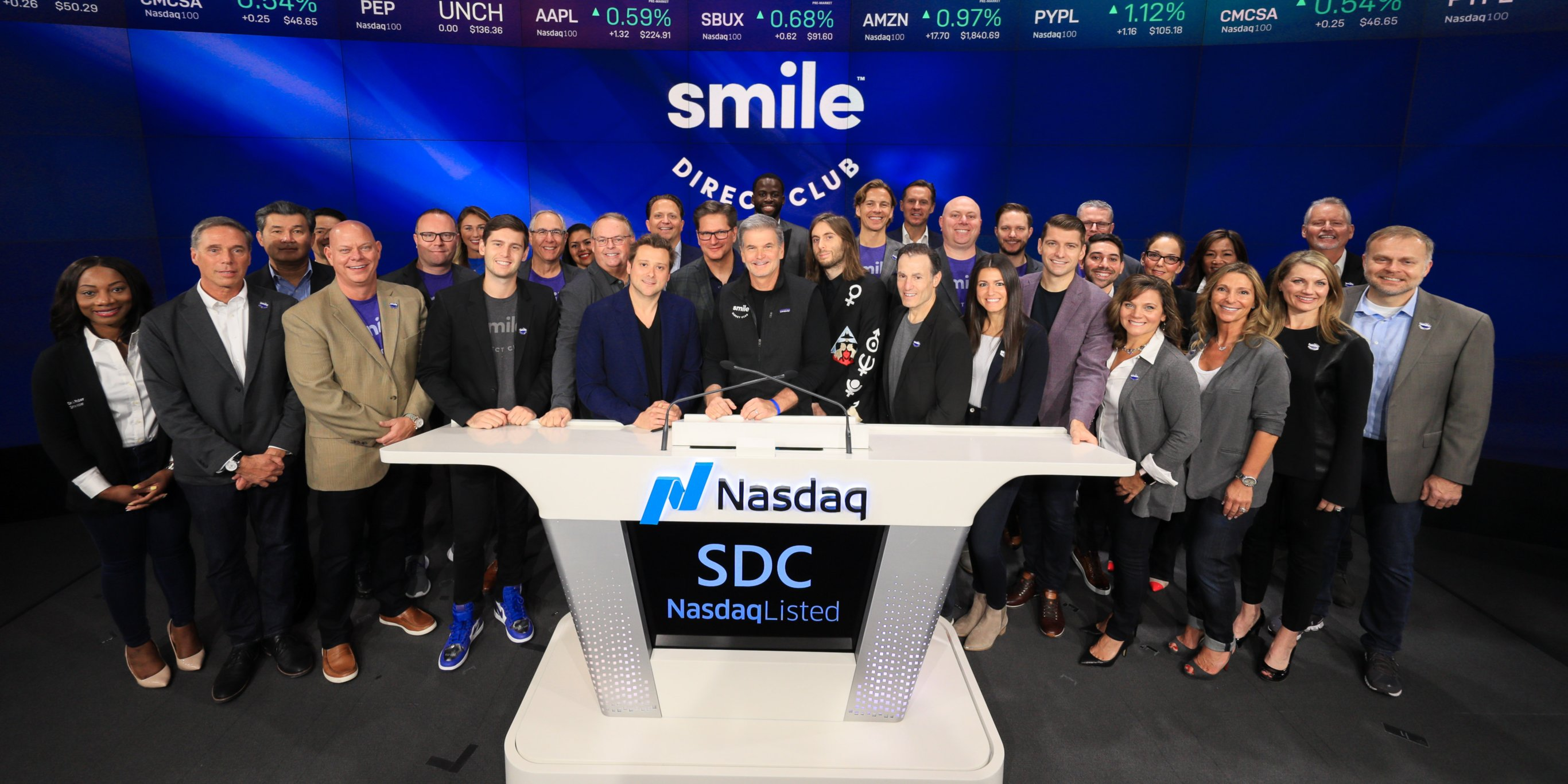 Buzzy healthcare startup SmileDirectClub just went public. Here are the execs and investors who stand to benefit the most.