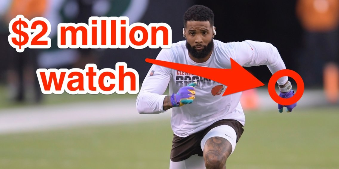 Odell Beckham Jr. wore a $2 million watch to 'Monday Night Football,' then got taken off for his gold-tinted visor