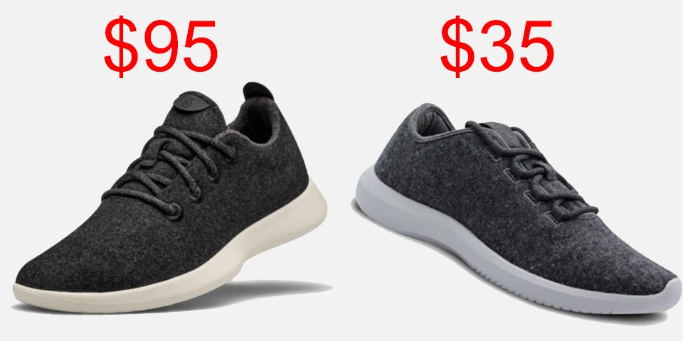 Amazon is selling a $35 wool sneaker that looks suspiciously similar to Allbirds, the $95 shoe of choice for Silicon Valley power players (AMZN)