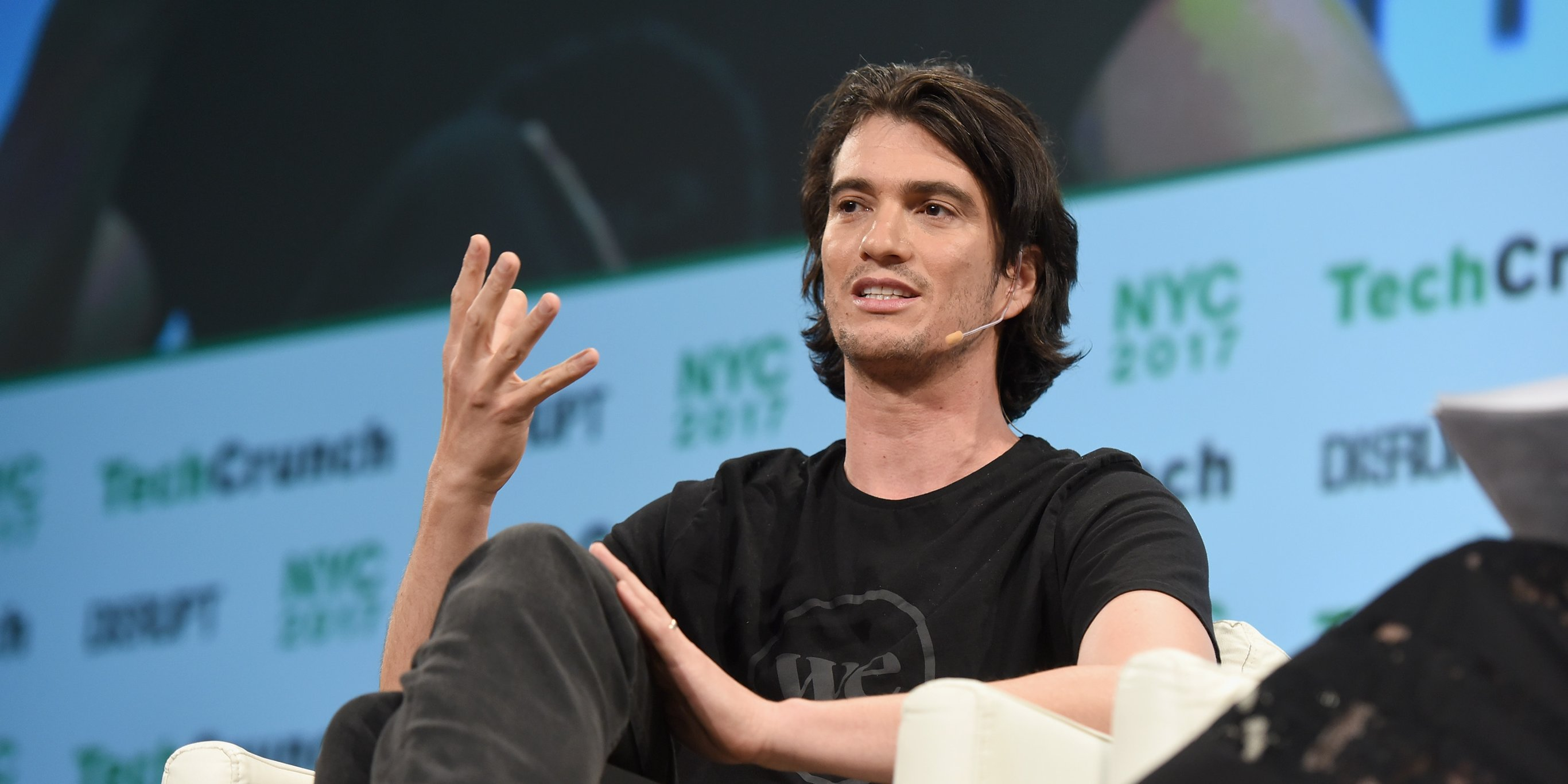 After WeWork banned employees from expensing meat, Adam Neumann was spotted eating a giant lamb shank at a company dinner