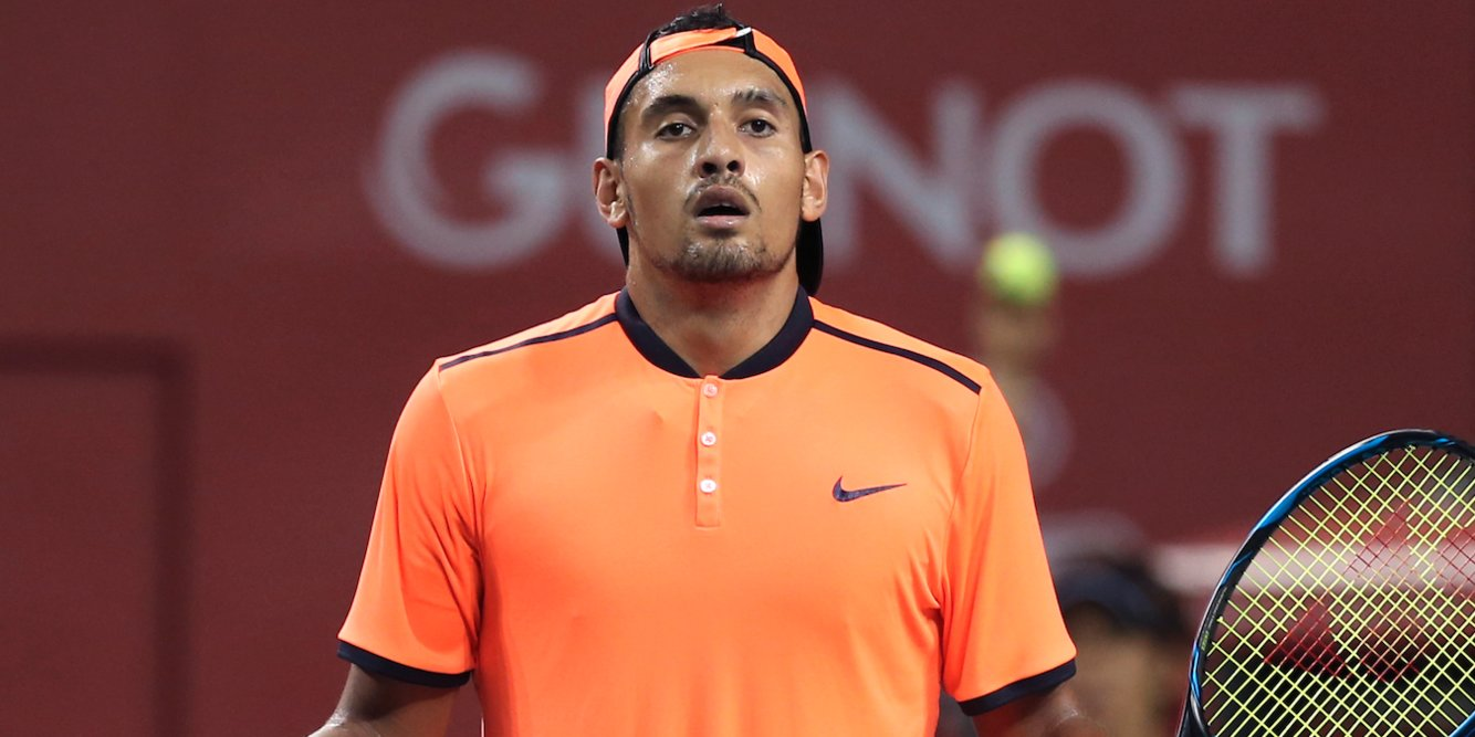 Nick Kyrgios said he lost concentration during a loss at the Laver Cup because he saw 'a really hot chick in the crowd'