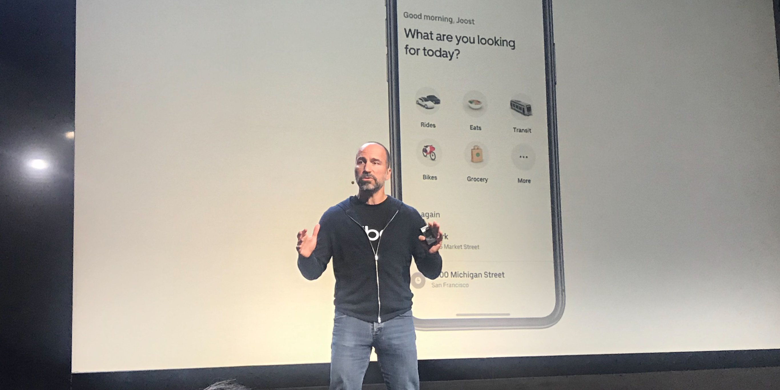 A major update is coming to Uber's app, and the company's CEO says it wants to be 'the operating system of your life' (UBER)