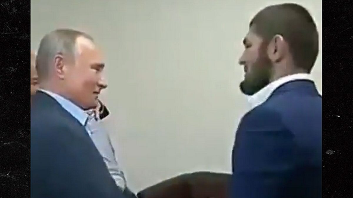 Khabib Nurmagomedov Meets with Vladimir Putin, 'Great Victory'