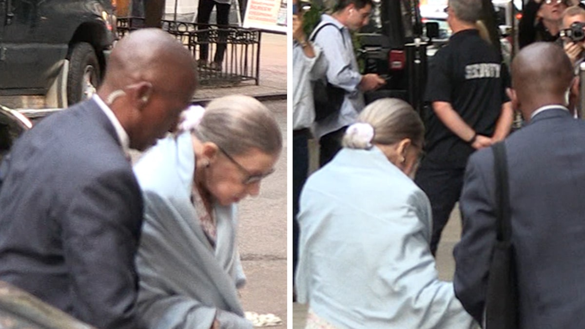 Supreme Court Justice Ruth Bader Ginsburg On the Move in New York City