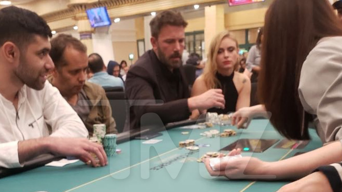 Ben Affleck Plays Poker Wasted at Casino After Halloween Party