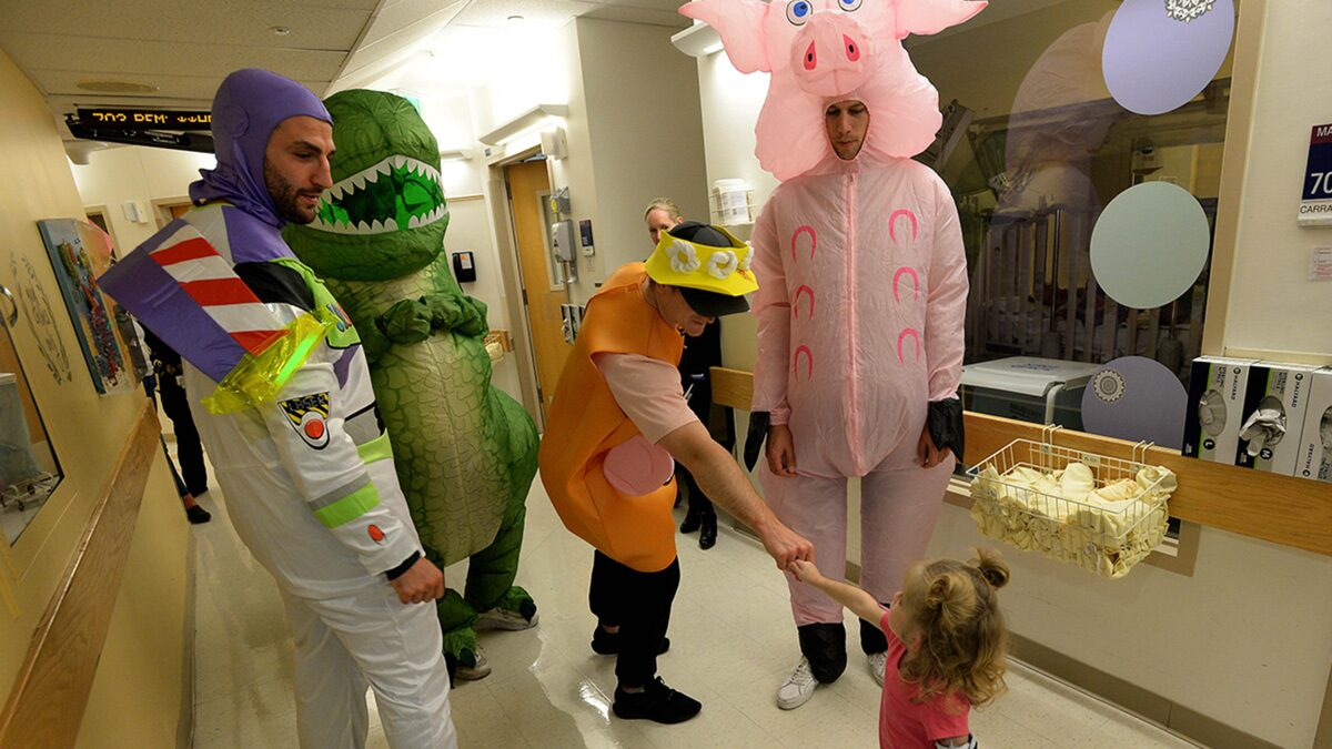 Boston Bruins Stars Throw 'Toy Story' Halloween Party at Boston Children's Hospital