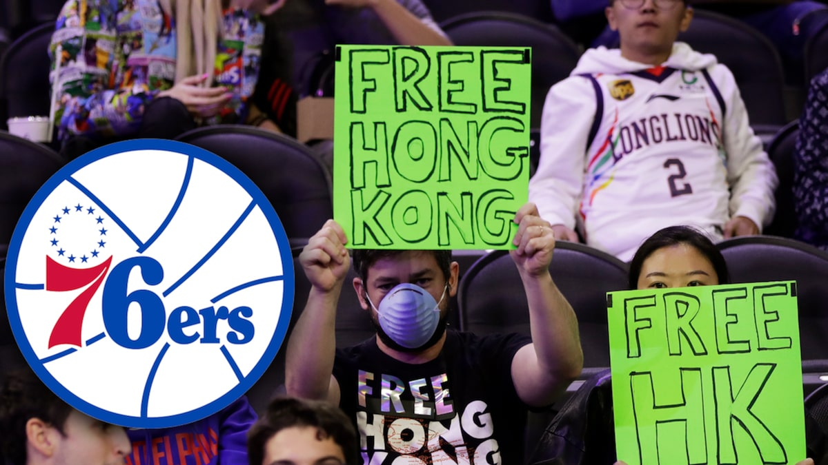 Sixers Fans With 'Free Hong Kong' Signs Ejected For Disrupting Fan Experience