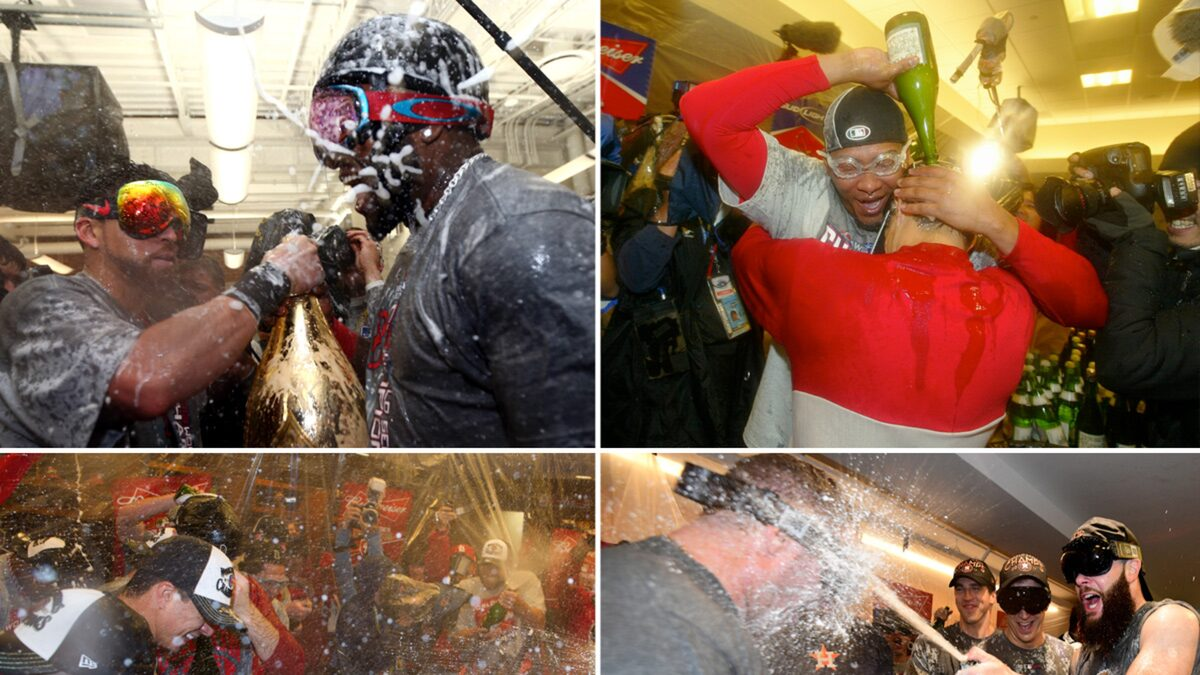 World Series Champagne Celebrations — Through The Years