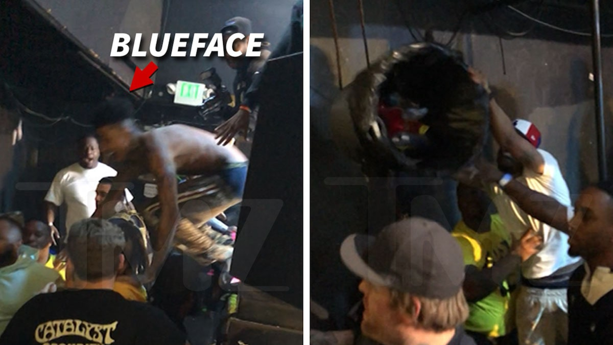 Blueface Ends Concert When Huge Brawl Breaks Out Next to Stage