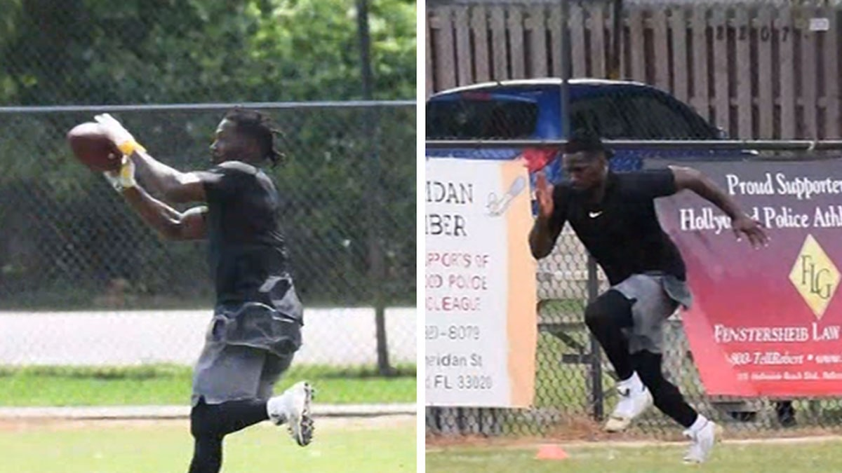 Antonio Brown Works Out at Police Football Field, Looks Fast As Hell
