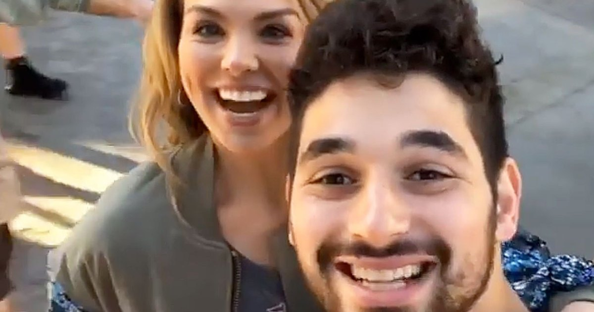 1-on-1! Hannah Brown and Alan Bersten Let Loose at Disneyland: Photos