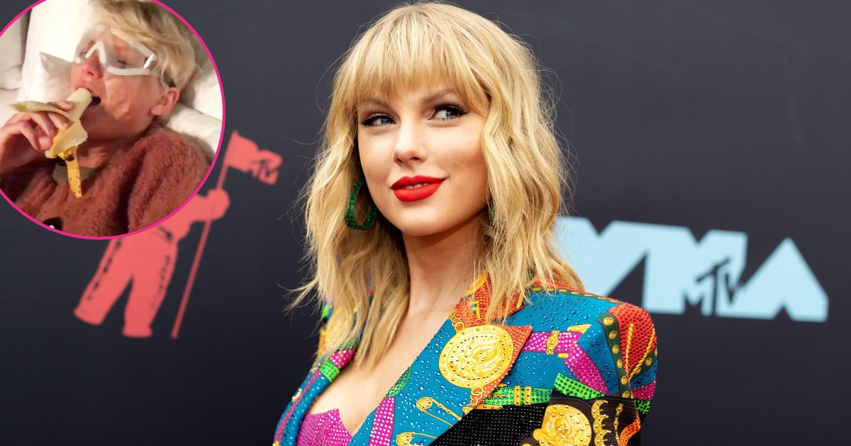 Hilarious! Taylor Swift Melts Down Over Banana in Post-Surgery Video