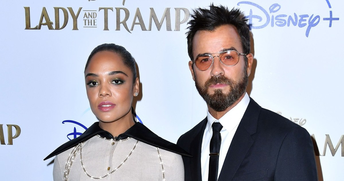 Tessa Thompson and Justin Theroux Dogs Have Playdate in NYC