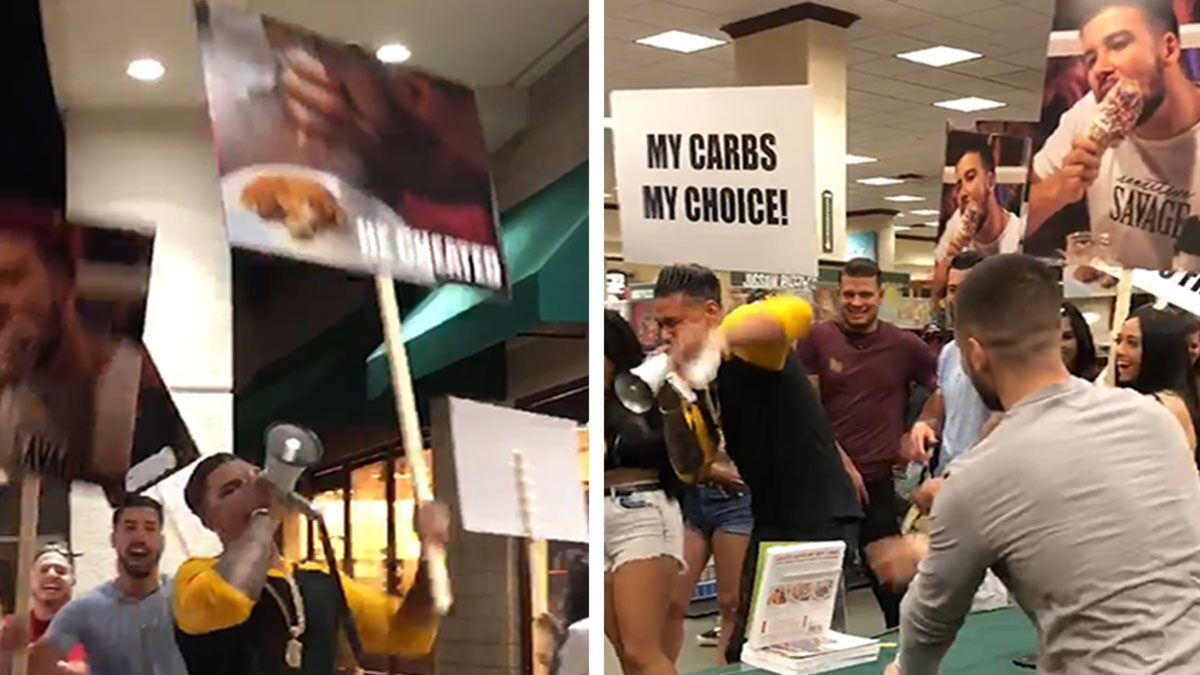 'Jersey Shore' Star Vinny's Keto Cookbook Signing Crashed by Pauly D
