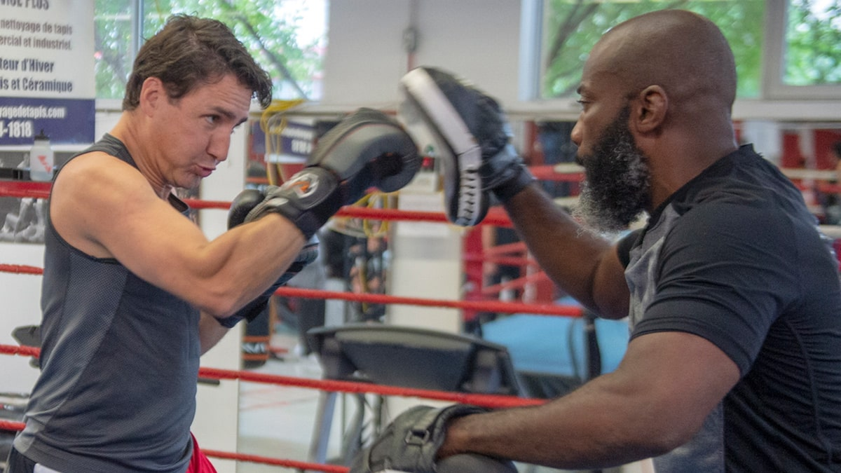 Justin Trudeau Trains with Black Boxing Champ Amid Blackface Scandal