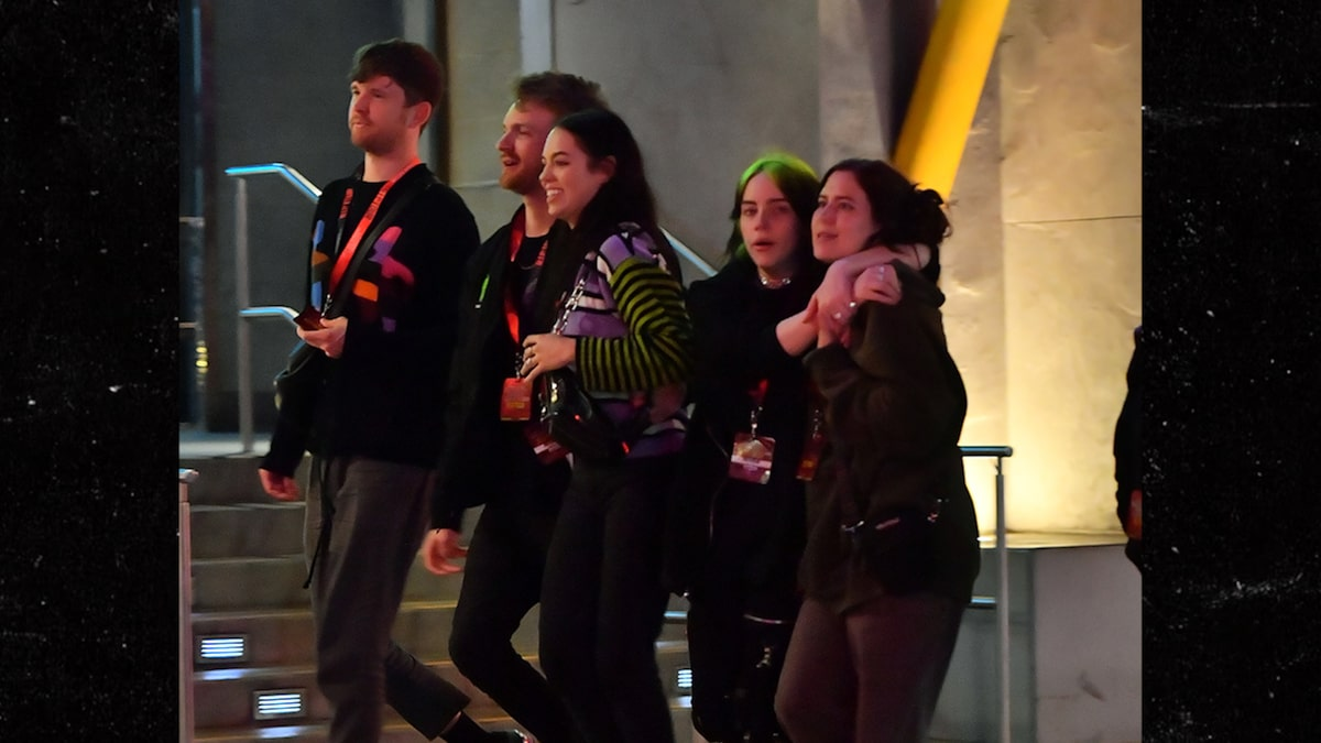 Billie Eilish Hits Halloween Horror Nights with Brother & Friends