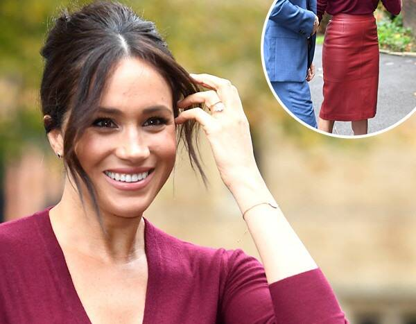 Meghan Markle's Red Leather Skirt: Get the Look