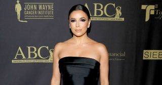 Eva Longoria Rocked a Strapless Black Dress to the Talk of the Town Gala