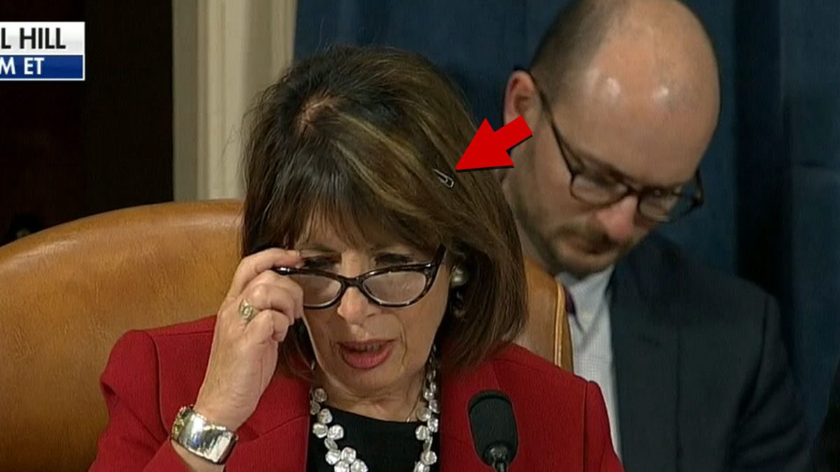Rep. Jackie Speier Has Paper Clip In Hair At Impeachment Hearing