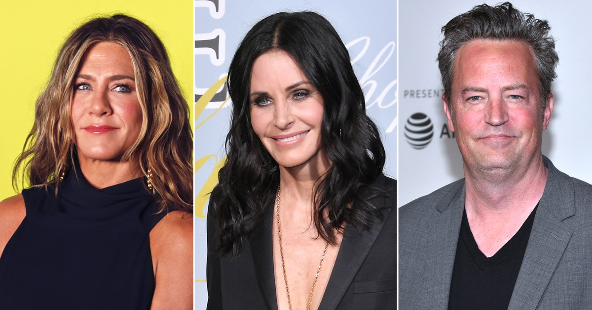 Jennifer Aniston Teases Courteney Cox and Matthew Perry Over Reunion
