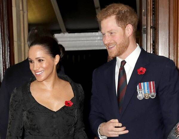 Meghan Markle and Prince Harry Reunite With Prince William and Kate Middleton at Remembrance Event