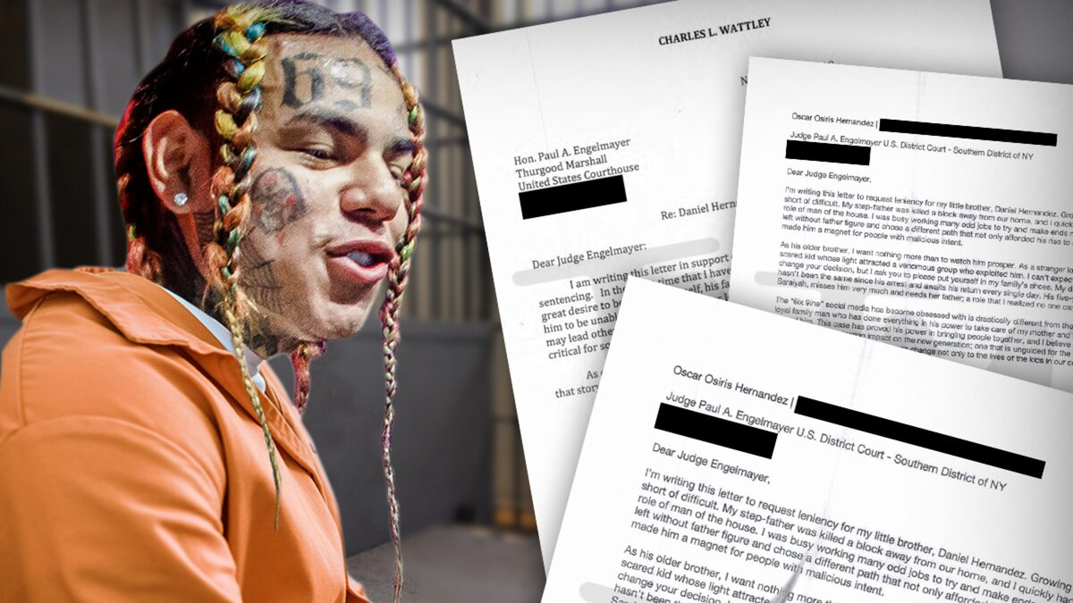 Tekashi 6ix9ine Letters from Mom, Bodyguard Ask Judge for Leniency