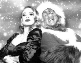 Adele Channels Old Hollywood Glamour in Stunning Christmas Photos