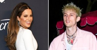 Kate Beckinsale, Machine Gun Kelly Weren't Showing Any PDA at Globes Parties