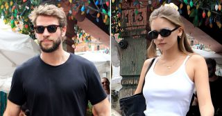 Liam Hemsworth Lunches With Girlfriend Gabriella Brooks in Los Angeles