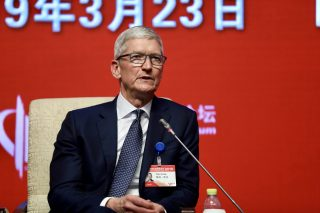 Tim Cook says he's 'optimistic' that China has the coronavirus situation under control