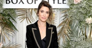 Nikki Reed Stunned in a Black Suit Jacket, Slip Dress in L.A.