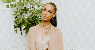 Jasmine Tookes Rocked a Tan Ensemble for Brunch in Beverly Hills
