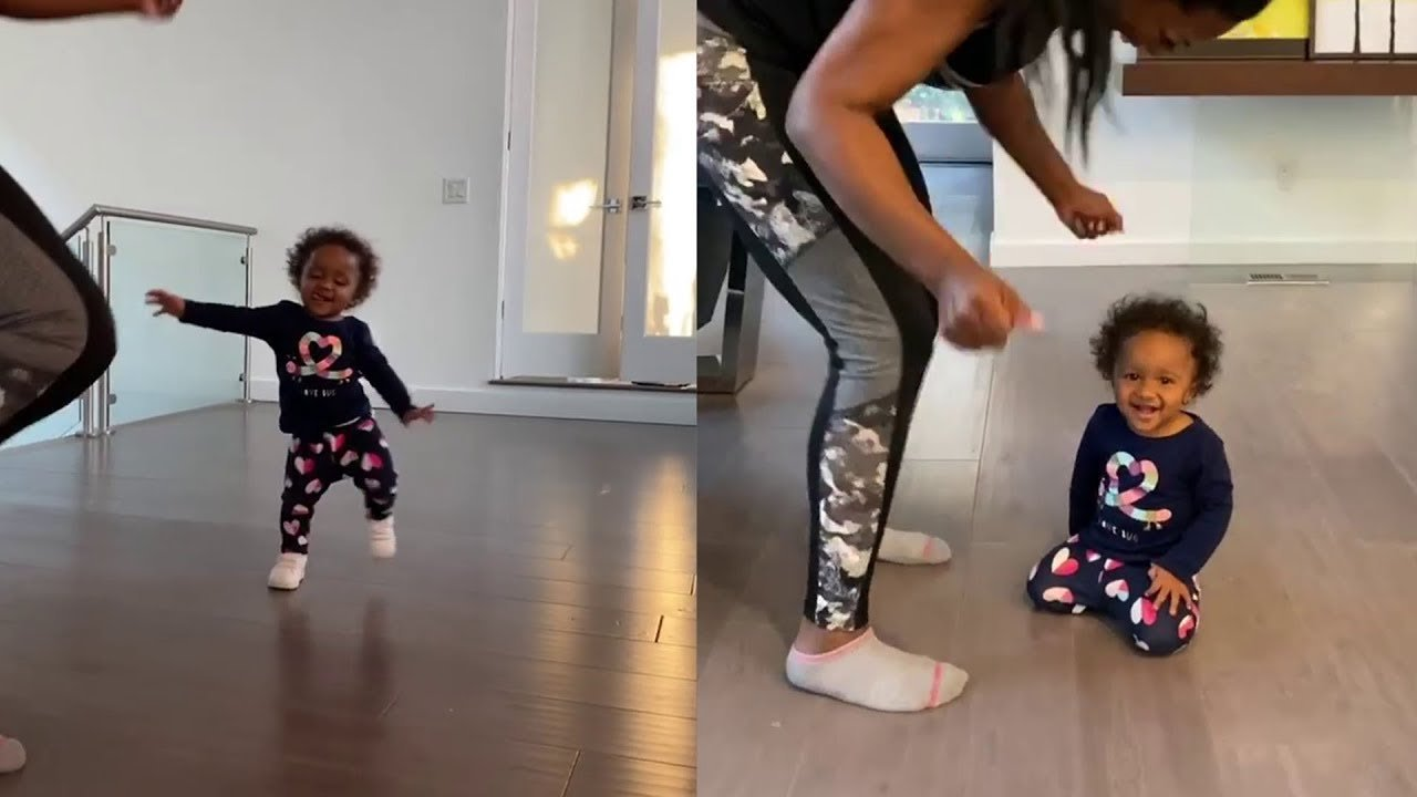 Kenya Moore's Baby Girl, Brooklyn Daly Is Busy With Big Girl Things Around The House – Check Out The Latest Pics