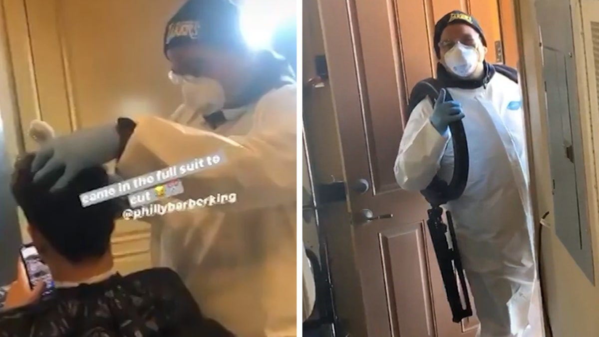 LaMelo Ball Gets Haircut From Barber In Hazmat Suit, We Had To Be Safe!