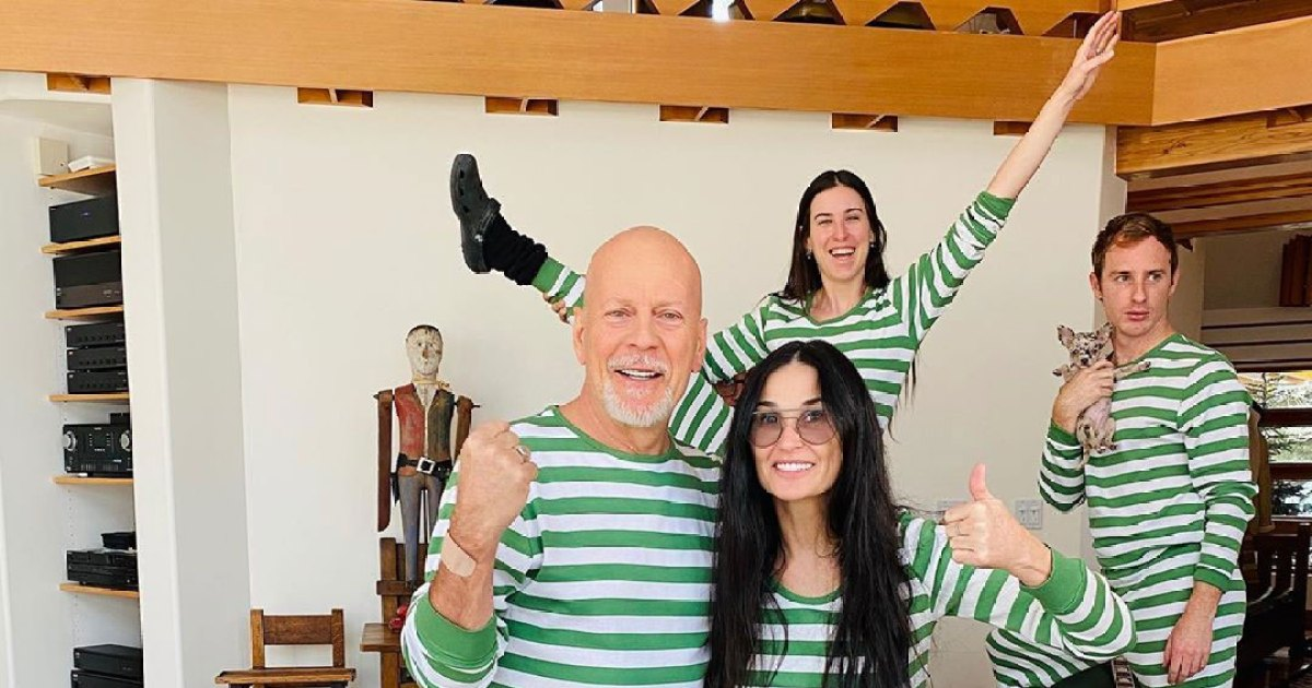 Every Photo of Demi Moore and Bruce Willis in Quarantine With Their Family