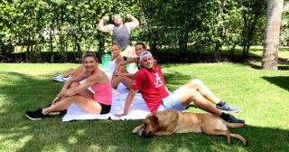 The Busch Family Shows Us At-Home Workouts to Do With Your Quarantine Buddy