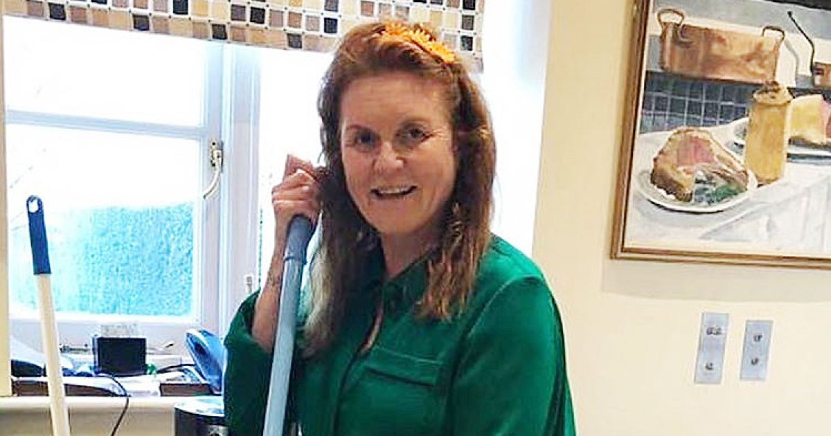 Sarah Ferguson Cleaning Her Home During Quarantine Is All of Us