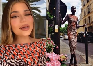 Kylie Jenner Wears Maisie Wilen As She Launches Kylie Skin At Douglas