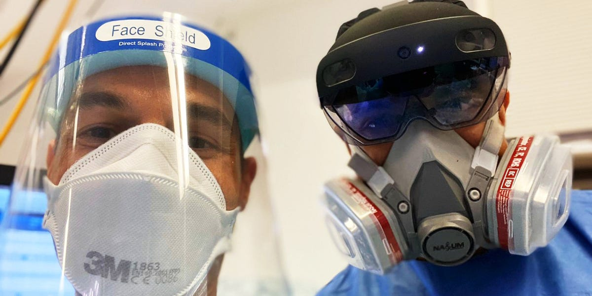 Doctors in London hospitals are using headsets from Microsoft to reduce the amount of staff coming into contact with COVID-19 patients