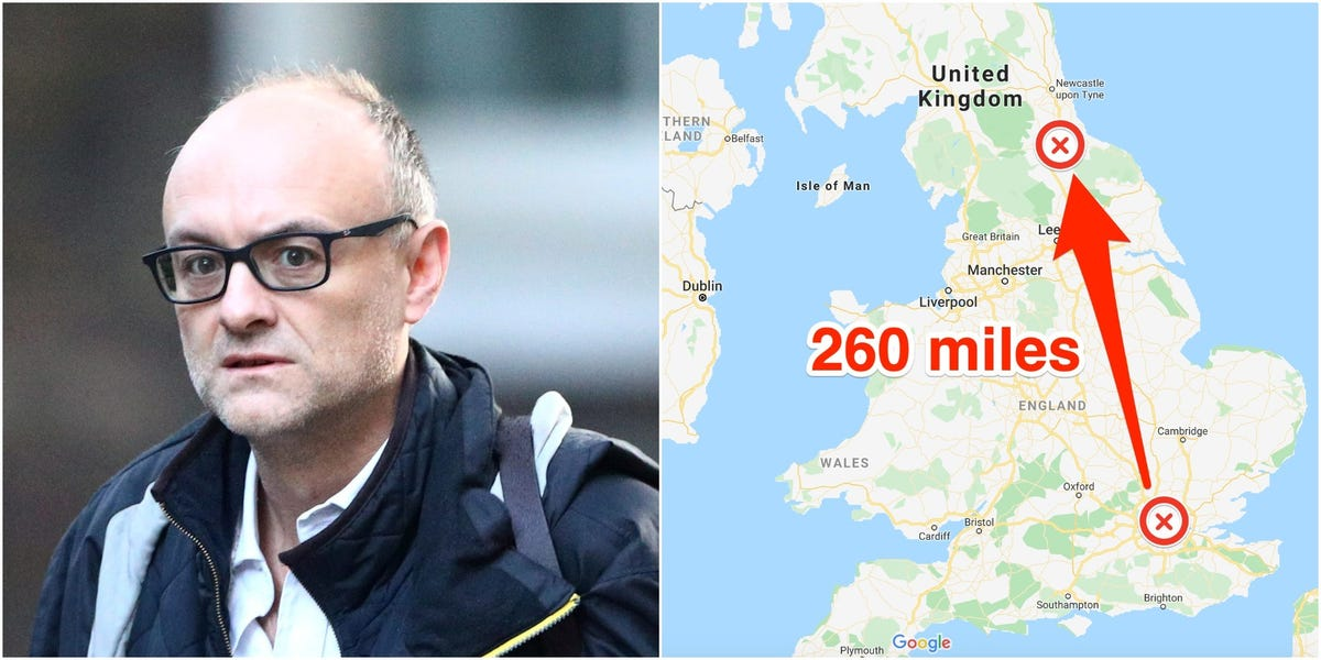 Boris Johnson's top adviser reportedly broke coronavirus lockdown by driving 260 miles to visit his parents, and now faces growing calls to resign