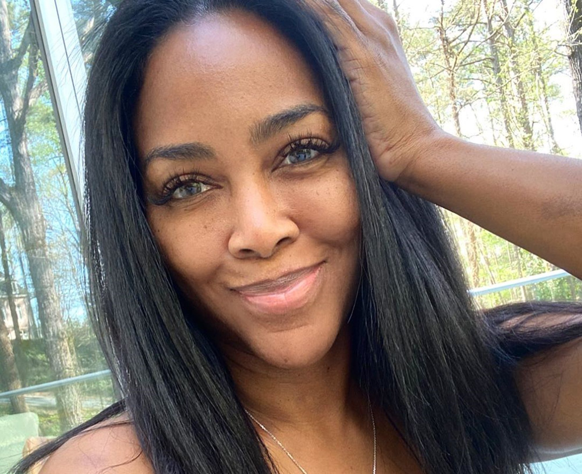 Kenya Moore Shares A Throwback Photo From Her Modeling Days – See it Here