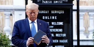 Episcopal bishop of DC 'outraged' after Trump hosted a photo-op outside of one of her churches holding a Bible, calling it an 'abuse of sacred symbols'