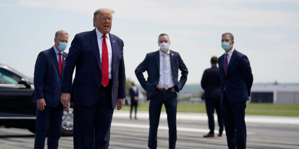 donald trump no mask coronavirus